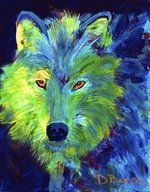 WOLF MATTED PRINT