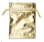 METALLIC POUCH GOLD 5X7
