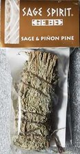 "SAGE & PINON PINE SMUDGE STICK 5"""
