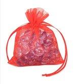 RED ORGANZA BAG 3X4