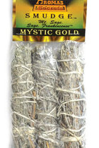 MYSTIC GOLD SMUDGE STICK 3PK 4""